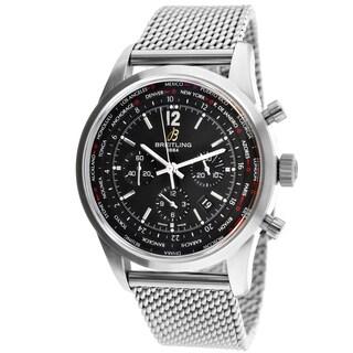 Breitling Men's AB0510U6/BC26 Pilot chronograph Round Silvertone Bracelet Watch
