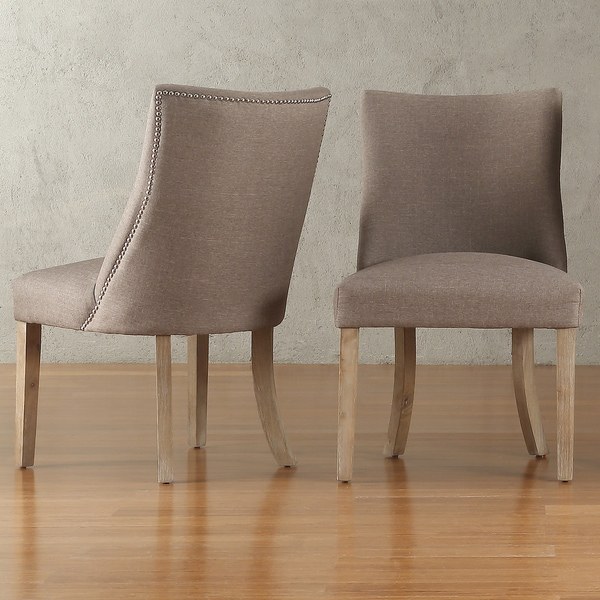 Abbott Nailhead Curved Back Upholstered Dining Chairs (Set of 2) by iNSPIRE Q Artisan & Shop Abbott Nailhead Curved Back Upholstered Dining Chairs (Set of 2 ...
