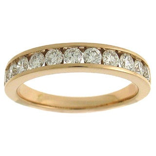 Azaro 18k Rose Gold 3/4ct TDW Diamond Band