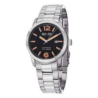 SO&CO New York Men's SoHo Quartz Date Stainless Steel Bracelet Watch