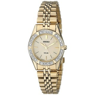 Seiko Women's SUP096 Stainless Steel Gold Tone Watch