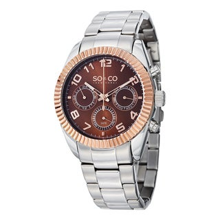 SO&CO New York Men's Madison Quartz Multifunction Watch with Stainless Steel Bracelet