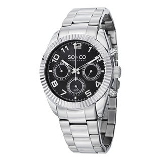 SO&CO New York Men's Madison Quartz Stainless Steel Day and Date Bracelet Watch