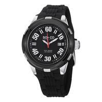SO&CO New York Men's SoHo Quartz Watch with Black Rubber Strap