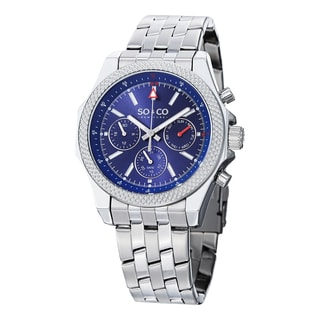 SO&CO New York Men's Monticello Quartz Day and Date Stainless Steel Watch