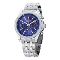 SO&CO New York Men's Monticello Quartz Day and Date Stainless Steel Watch - Blue