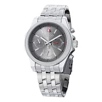 SO&CO New York Men's Monticello Quartz Day and Date Watch with Stainless Steel Link Bracelet - Silver