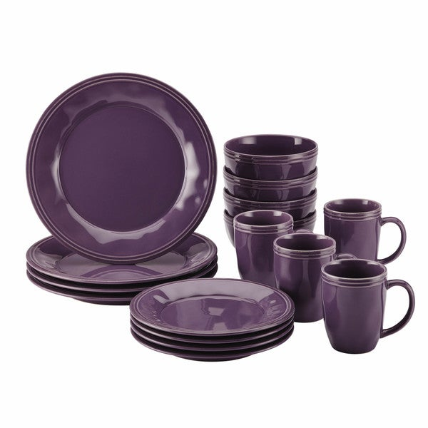 Rachael Ray Cucina Dinnerware 16 Piece Lavender Purple