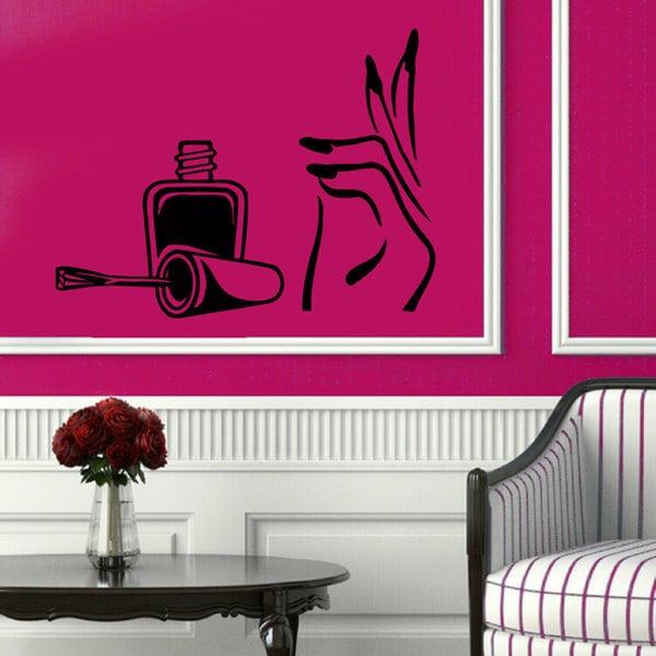 Shop Manicure Pedicure Nail Beauty Salon Sticker Vinyl Wall Art ...