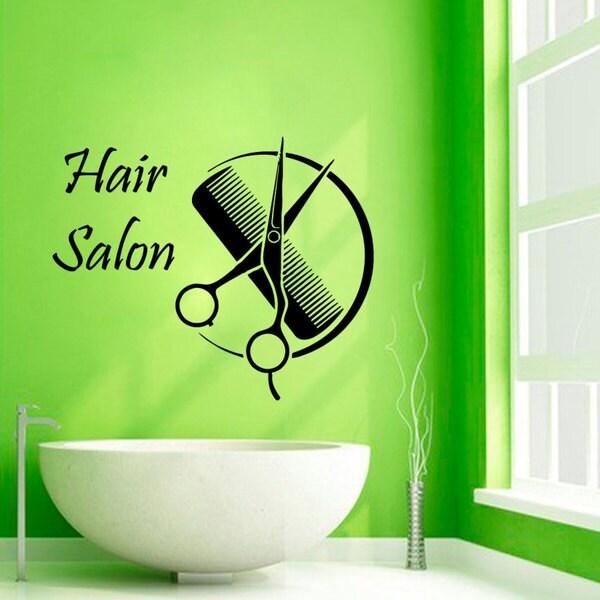 Hair Salon Sticker Vinyl Wall Art 15333215