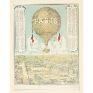 Vue Generale De Paris Balloon
