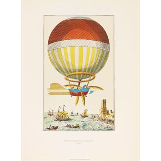 'The First Channel Crossing by Air 1785' Print