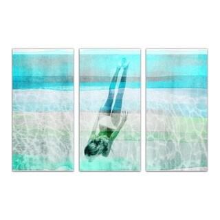 Burst Creative 'Water to Clear My Mind Triptych' Canvas Art