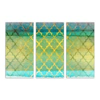 Burst Creative 'Alakran Triptych' Canvas Art