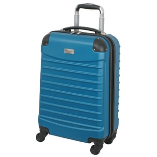 Geoffrey Beene Teal 20-inch Carry On Hardside Spinner Upright Suitcase