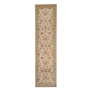 Herat Oriental Afghan Hand-knotted Vegetable Dye Oushak Wool Runner (2'7 x 9'8)