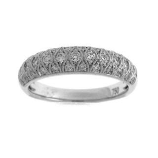 Azaro 18k White Gold 2/5ct TDW Diamond Fashion Ring