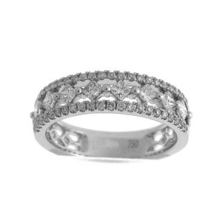 Azaro 18K White Gold 3/4ct TDW Diamond Band Ring