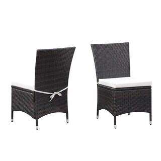Handy Living Aldrich Brown Indoor/Outdoor 2-piece Armless Dining Chair Set