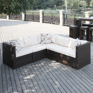 Handy Living Aldrich Brown Indoor/ Outdoor 5-piece Sectional Set