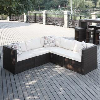 Havenside Home Stillwater Brown Indoor/ Outdoor 5-piece Sectional Set