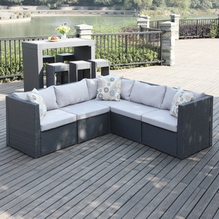 Portfolio Aldrich Grey Indoor/Outdoor 5-piece Sectional Set