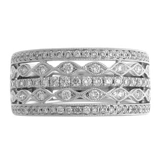 Azaro 18k White Gold 5/8ct TDW Diamond Fashion Ring (G-H, SI1-SI2)