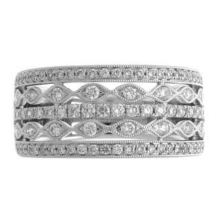 Azaro 18k White Gold 5/8ct TDW Diamond Fashion Ring