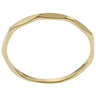Journee Collection 14K Goldfill Alloy Handmade Ring Band