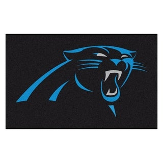 Fanmats Machine-made Carolina Panthers Black Nylon Ulti-Mat (5' x 8')