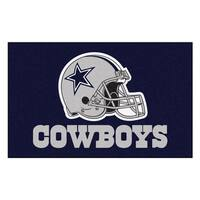Fanmats Machine-made Dallas Cowboys Blue Nylon Ulti-Mat (5' x 8')