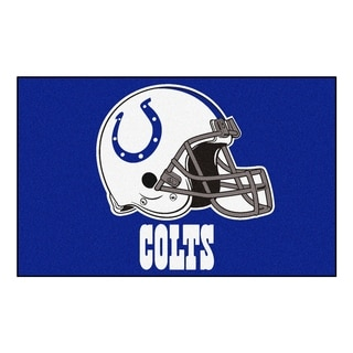 Fanmats Machine-made Indianapolis Colts Blue Nylon Ulti-Mat (5' x 8')