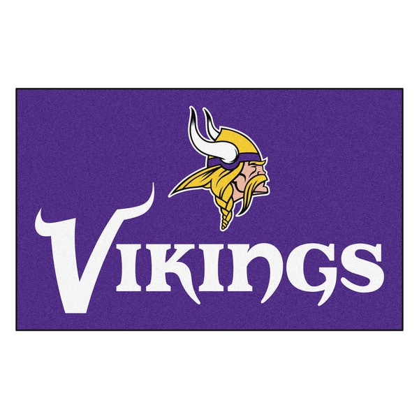 Fanmats Machine-made Minnesota Vikings Purple Nylon Ulti-Mat (5' x 8')