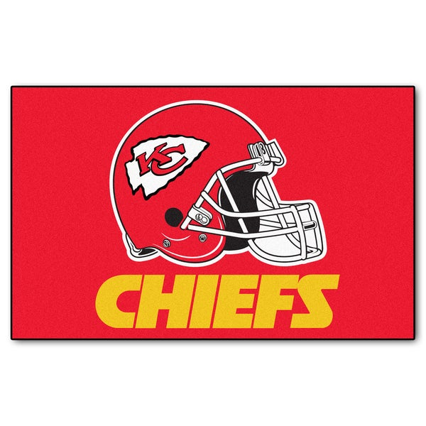 Fanmats Machine-made Kansas City Chiefs Red Nylon Ulti-Mat (5' x 8')