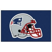 Fanmats Machine-made New England Patriots Blue Nylon Ulti-Mat (5' x 8')