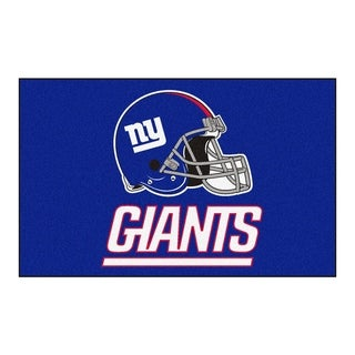 Fanmats Machine-made New York Giants Blue Nylon Ulti-Mat (5' x 8')