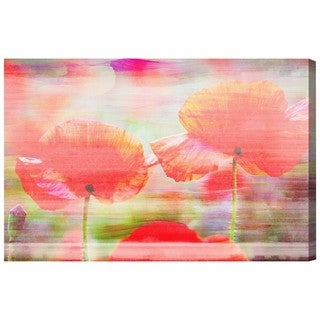 Oliver Gal 'Poppy Bloom' Floral and Botanical Wall Art Canvas Print - Orange, Green