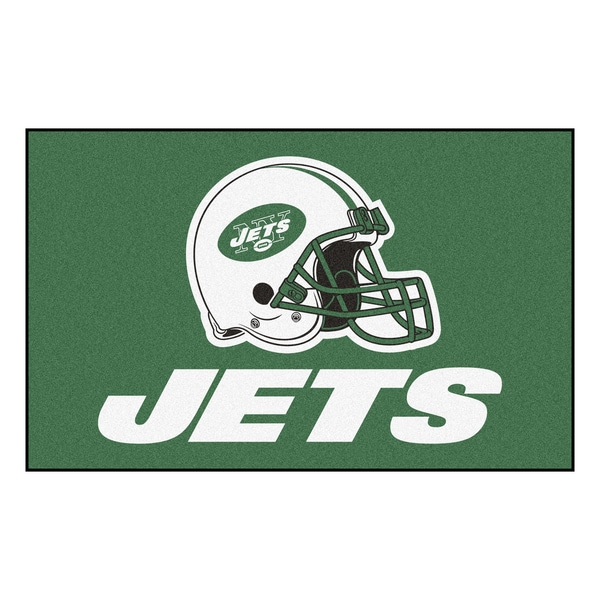 Fanmats Machine-made New York Jets Green Nylon Ulti-Mat (5' x 8')