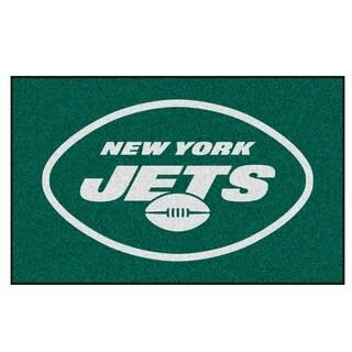 Fanmats Machine-made New York Jets Green Nylon Ulti-Mat (5' x 8')