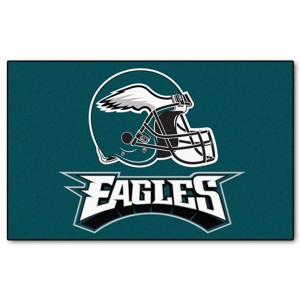 Fanmats Machine-made Philadelphia Eagles Teal Nylon Ulti-Mat (5' x 8')