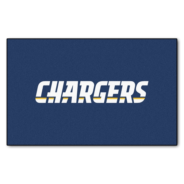 Fanmats Machine-made San Diego Chargers Blue Nylon Ulti-Mat (5' x 8')