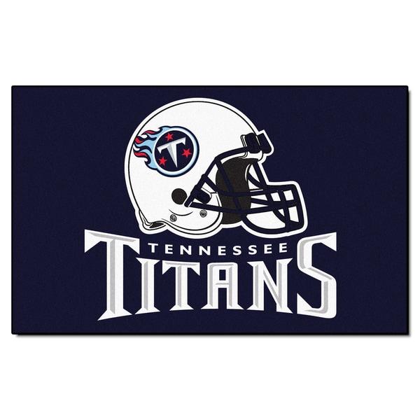 Fanmats Machine-made Tennessee Titans Blue Nylon Ulti-Mat (5' x 8')
