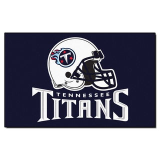 Fanmats Machine-made Tennessee Titans Blue Nylon Ulti-Mat (5' x 8')