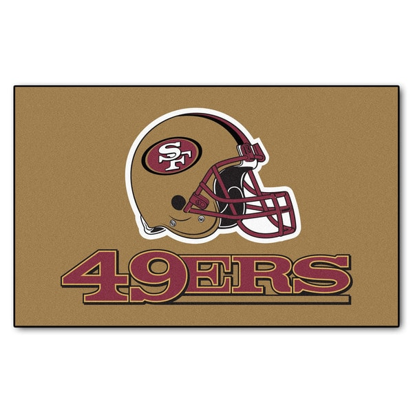 Fanmats Machine-made San Francisco 49ers Gold Nylon Ulti-Mat (5' x 8')