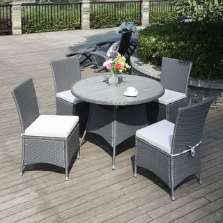 Portfolio Aldrich Grey Indoor/Outdoor 5-piece Round Dining Set