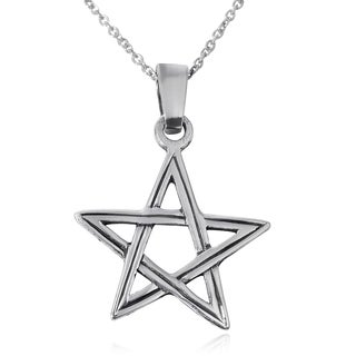 Journee Collection Sterling Silver Star Necklace