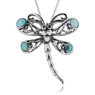 Journee Collection Sterling Silver Turquoise Dragonfly Necklace|https://ak1.ostkcdn.com/images/products/10111798/P17251485.jpg?_ostk_perf_=percv&impolicy=medium
