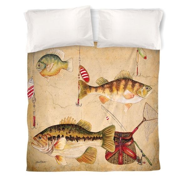 Fish and Lures Duvet Cover