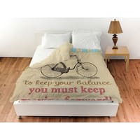 Life Bicycle Duvet Cover