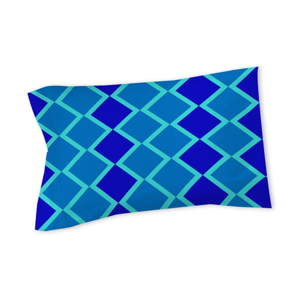 Neon Party Blue Geo Pattern Sham